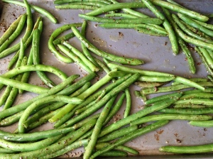 Green beans pre-roasting