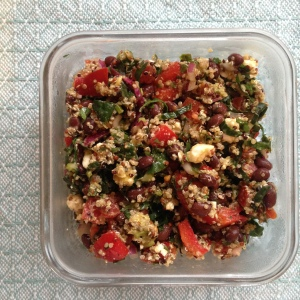 Southwest Kale and Black Bean Quinoa Salad